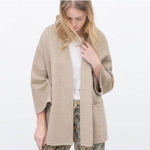 Zara Handmade Wool Blend Jacket Cardigan